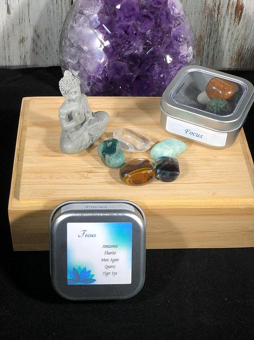 Focus Crystal Healing Tin