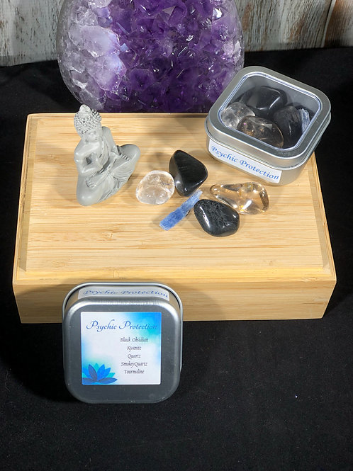 Psychic Protection Crystal Healing Tin