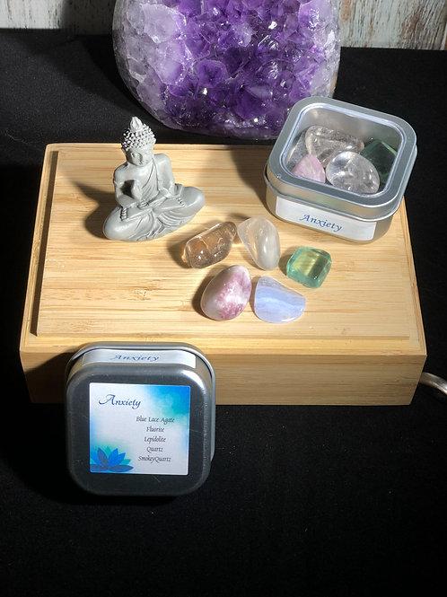 Anxiety Crystal Healing Tin