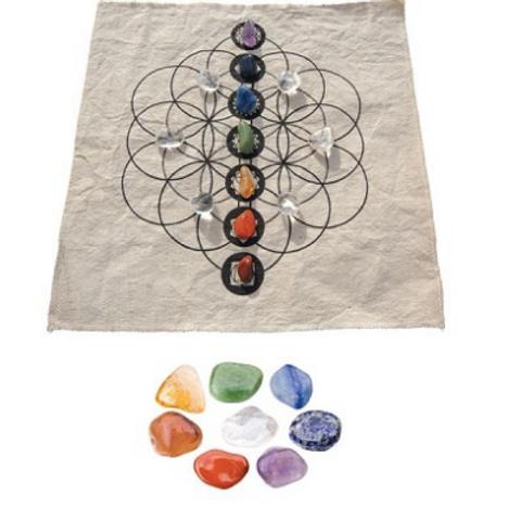 Crystal Grid Kit - Seven Chakra - Balance 0081