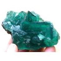 Fluorite Translucent Green Cube 0020