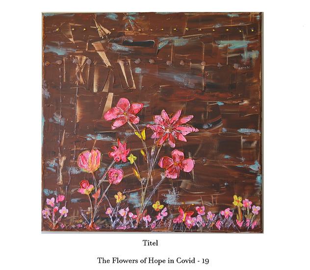Die Blumen der Hoffnung in Covid-19