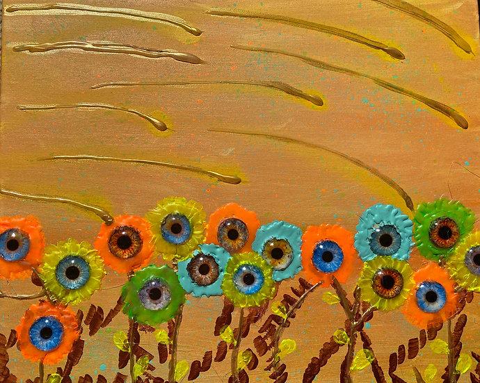 Sonnenblumen-Auge