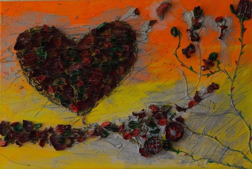 Das Herz der wartenden Rose