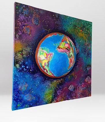 Erde im Universum