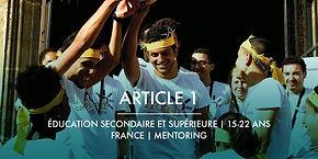 La Fondation Ardian et Article 1 + Mentoring