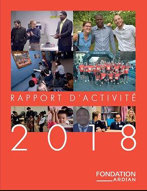 Rapport d'activité 2018 de la Fondation Ardian