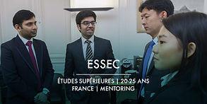 La Fondation et l'ESSEC + Bourses d'études et Mentoring