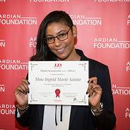 Ingrid Marie Sainte, winner of the 3,2,1 program for entrepreneurship