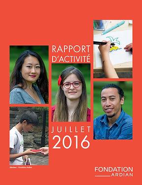 Rapport d'activité 2016 de la Fondation Ardian