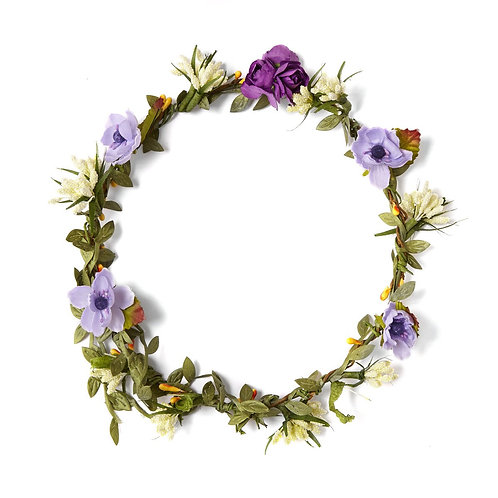 Woven full flower crown