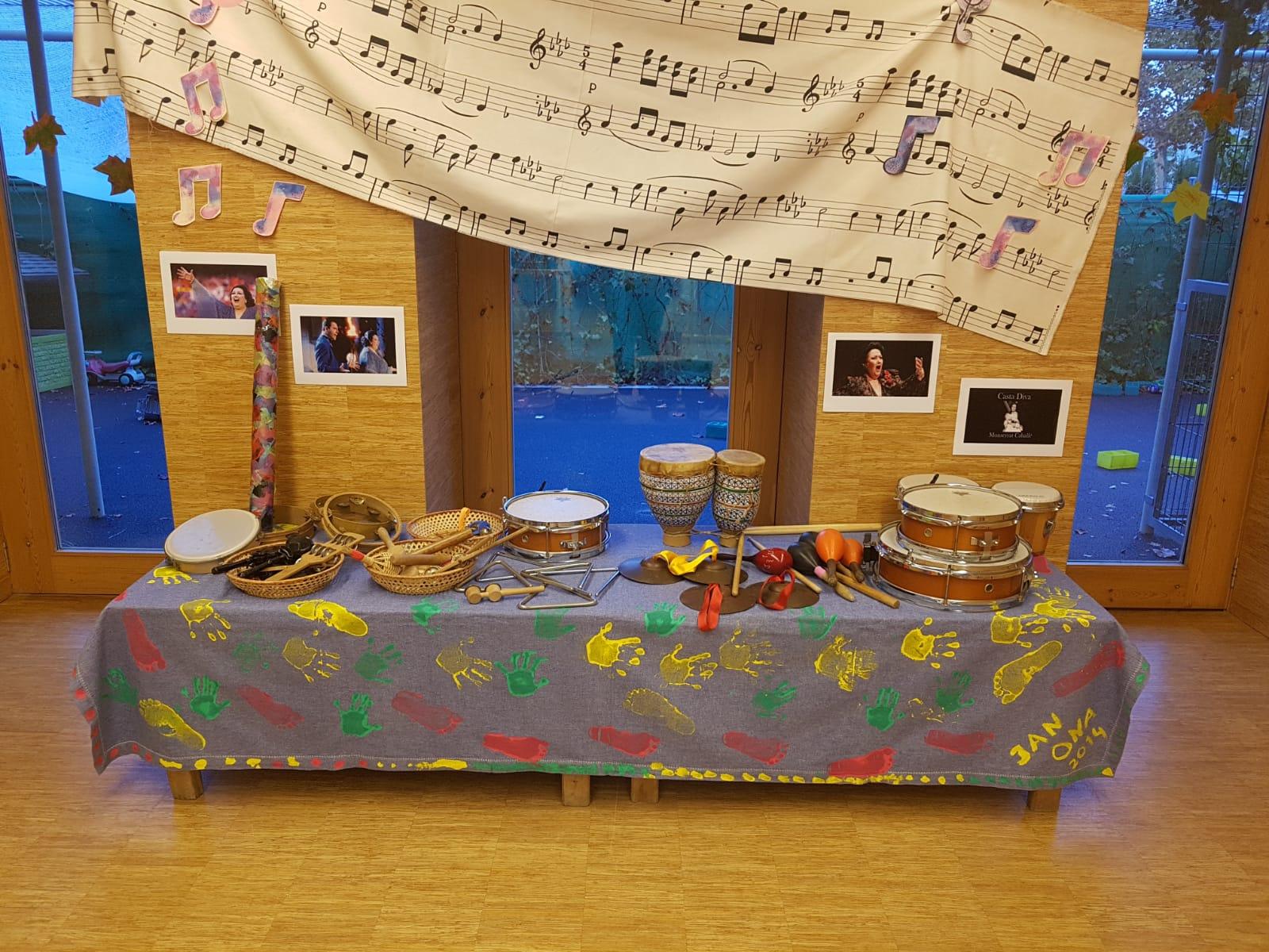Instruments a la sala central.