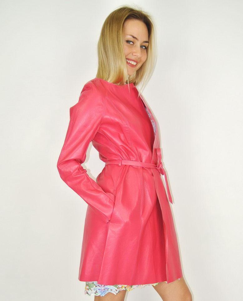 Кожаный плащ Imperial , 100% made in Italy, женская одежда оптом со склада в Москве