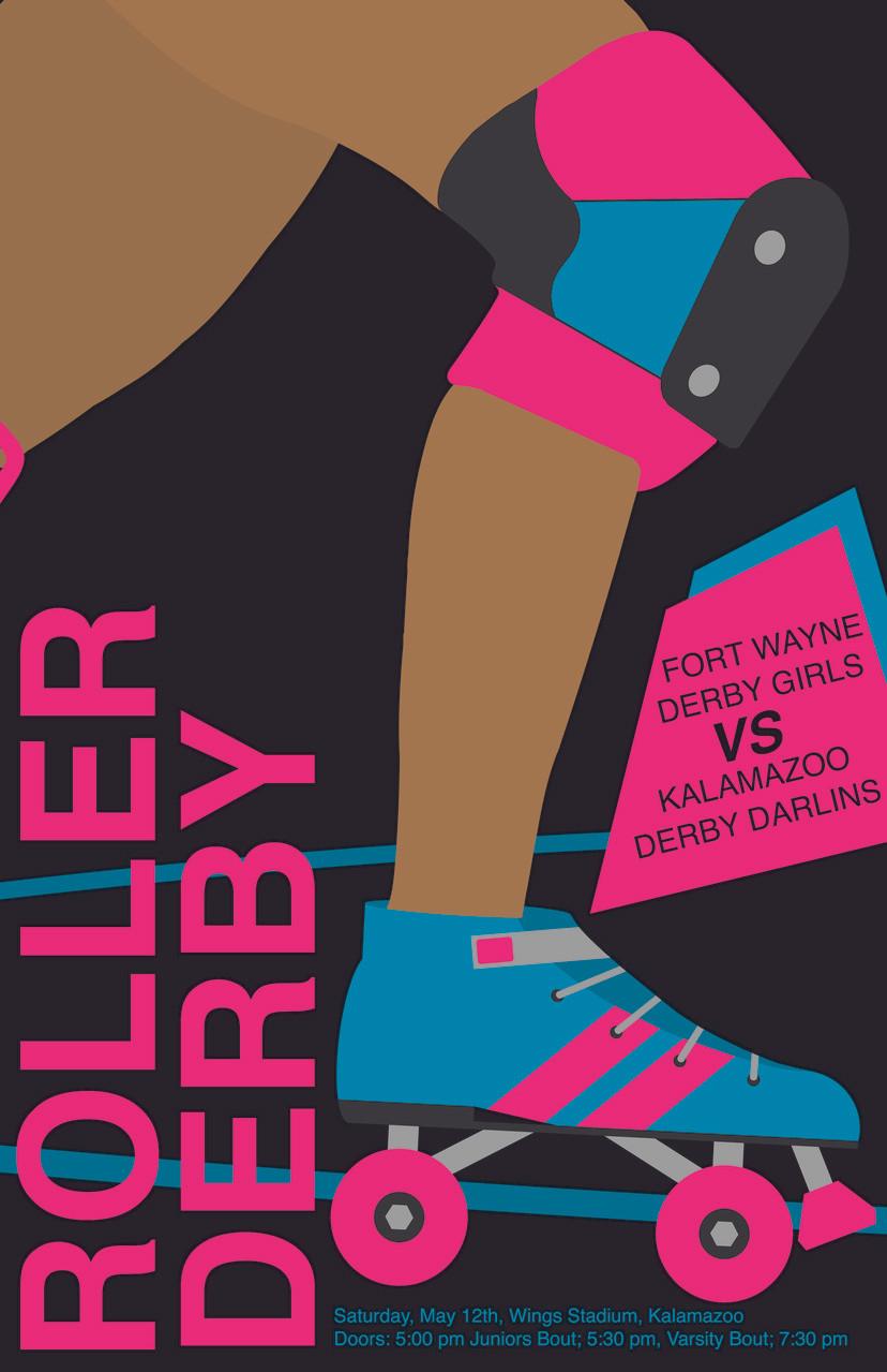 Audrey Dobbs, Roller Derby Poster