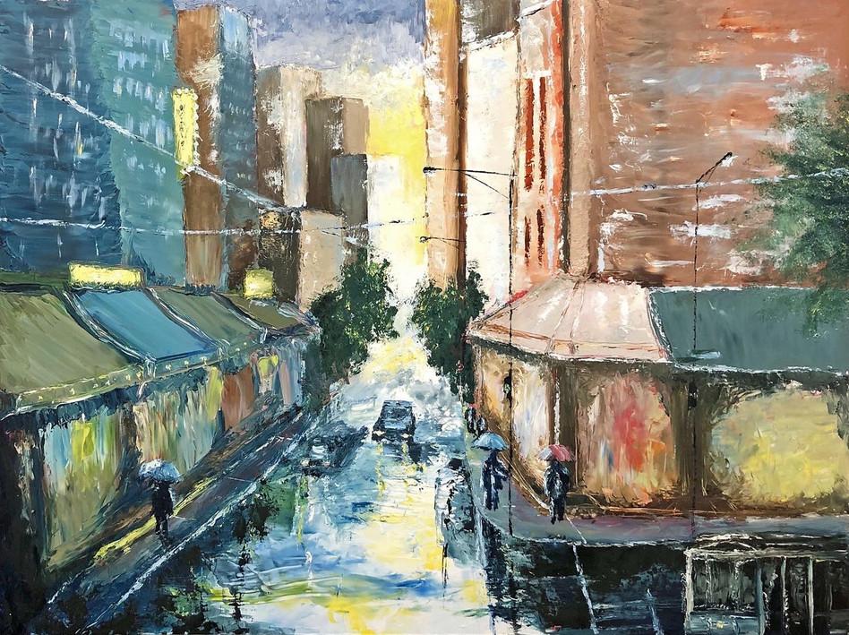 Cadde Fabri, Light through the Rain