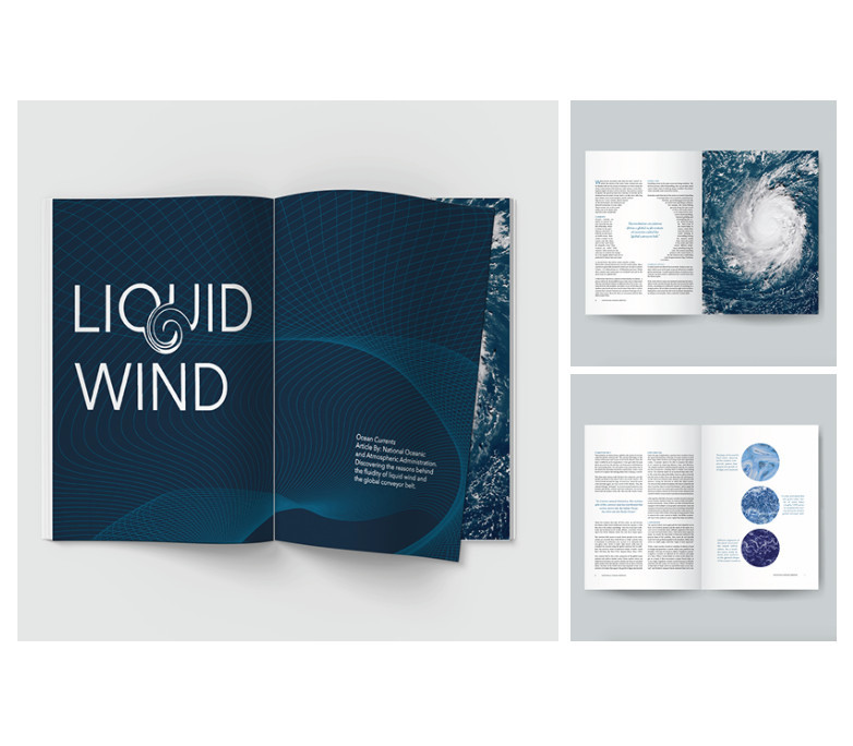Alexis Wallin, Liquid Wind: Magazine Layout