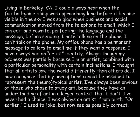 Being and Autism, text panel 8