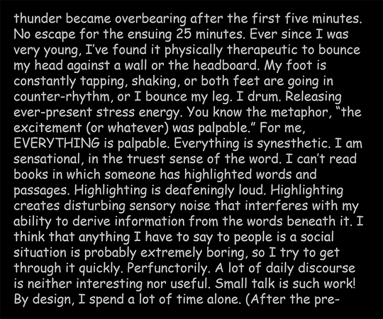 Being and Autism, text panel 5