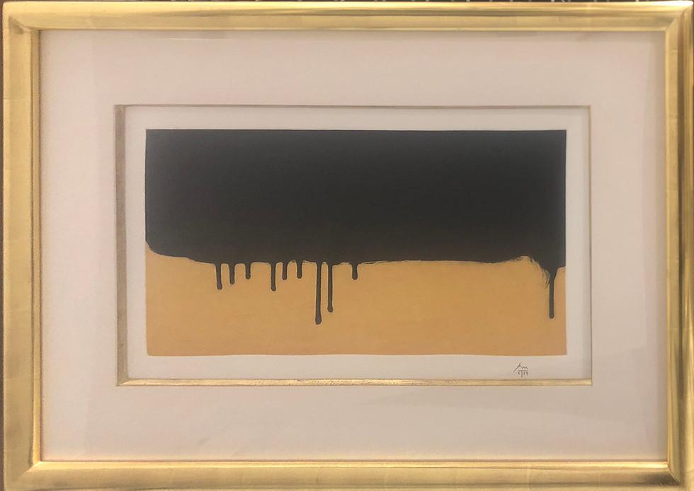 Robert Motherwell,  Riverrun. 1983. Etching/aquatint.