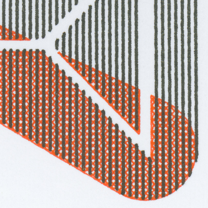 Glyph Variation in Black and Red (detail)
