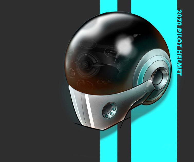Nick Koch, 2070 Future Pilot Helmet Concept