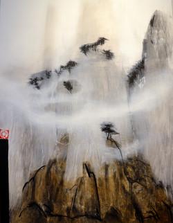 Monts dans la brume 116x89