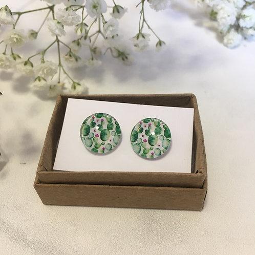 'Cactus' Glass Earrings