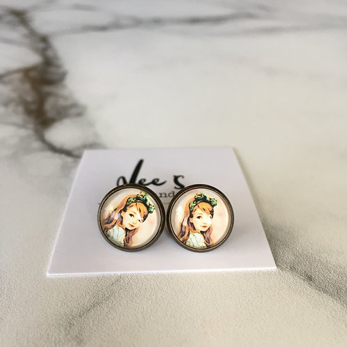 'Audrey' Glass Earrings