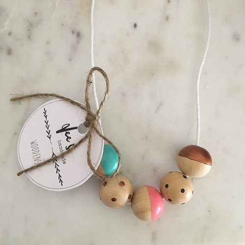 'Elle' (CHILD) Wooden Necklace