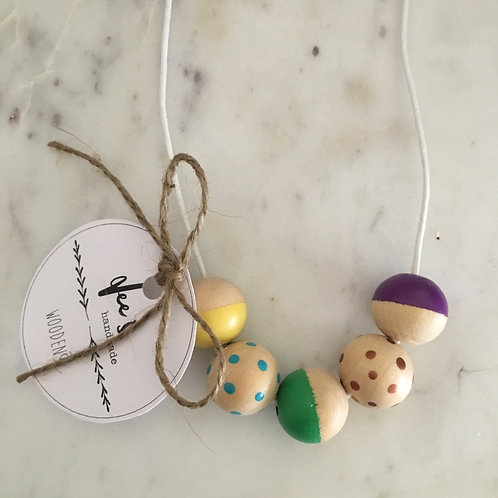 'Lily' (CHILD) Wooden Necklace