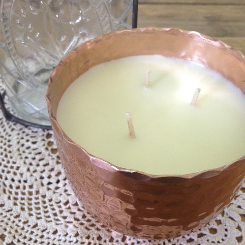 'Coconut' Pressed Copper Candle