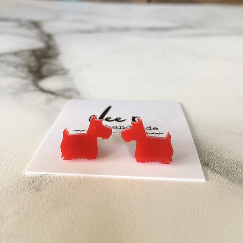 'Acrylic Terrier' Earrings