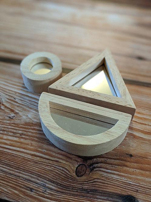 Wooden Mirror Blocks