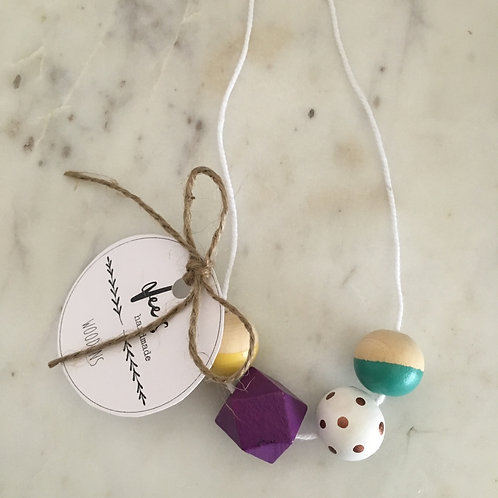 'Nora' (CHILD) Wooden Necklace