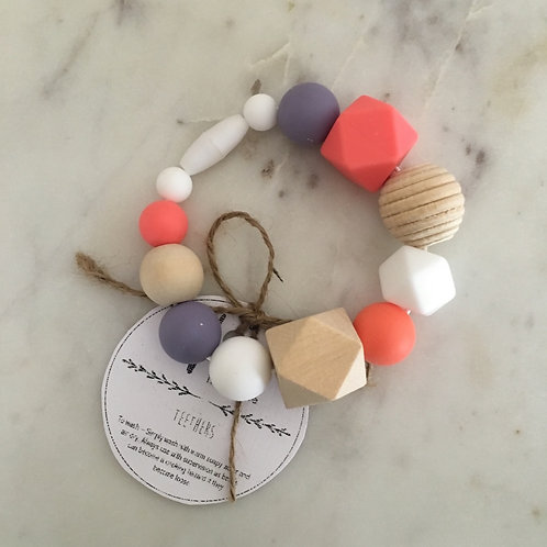 'Lexie' Silicone Teething Toy Clip