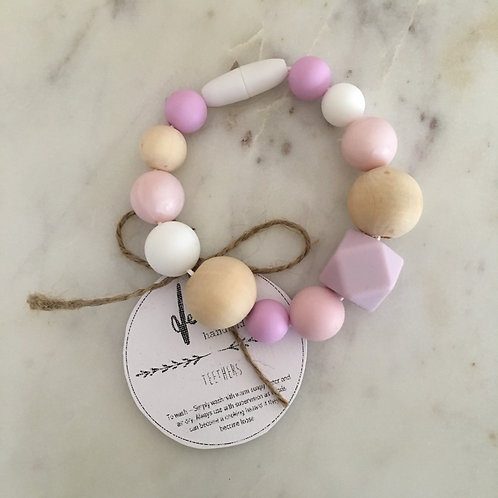 'Harlow' Silicone Teething Toy Clip