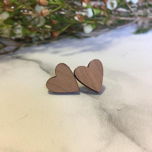 'Heart' Wooden Earrings
