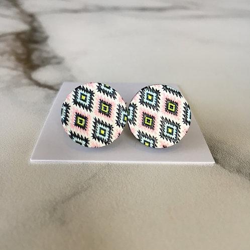 'Beth' Wooden Embossed Earrings