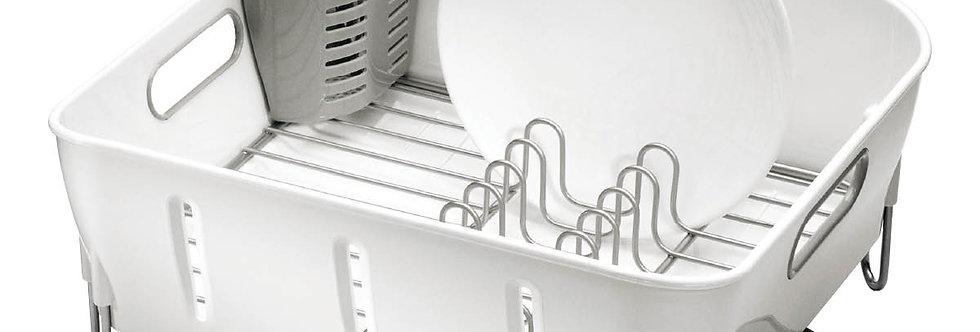 מתקן לייבוש כלים קומפקט לבן