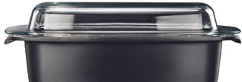 """רוסטר עם מכסה זכוכית 14*24*40 ס""""מ , 9.3 ליטר BLACK MARBLE"""
