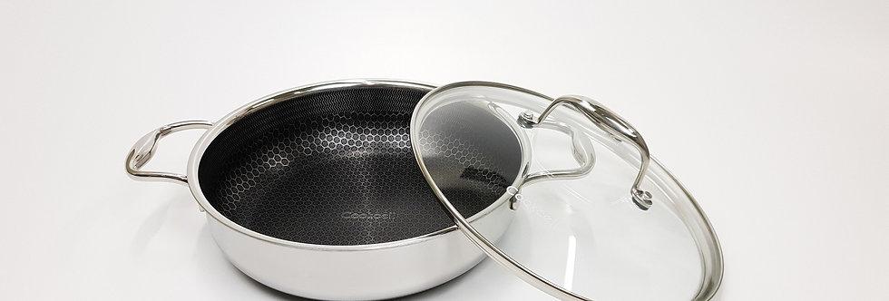 סוטאז' 28 נירוסטה עם מכסה זכוכית cookcell