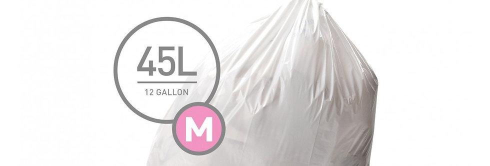 שקיות מסוג M לפח 45 ל'