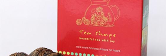מארז שישיית פקעות תה שנפתחות לפרח מרהיב