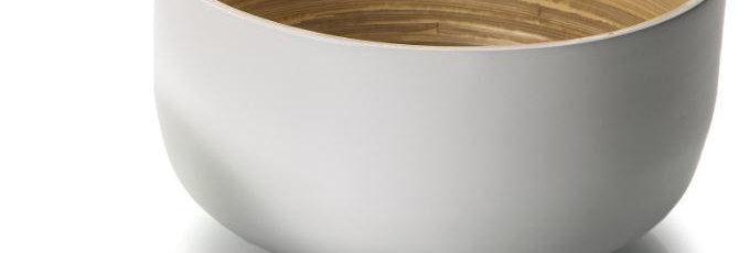 קערת במבוק גבוהה לבנה