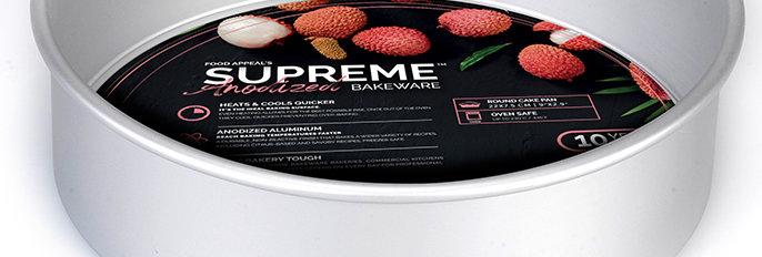 """תבנית עוגה תחתית נשלפת 7.5*22 ס""""מ גבוהה במיוחד SUPREME ANODIZED"""