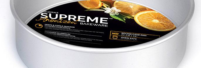 """תבנית עוגה תחתית נשלפת 7.5*24 ס""""מ גבוהה במיוחד SUPREME ANODIZED"""