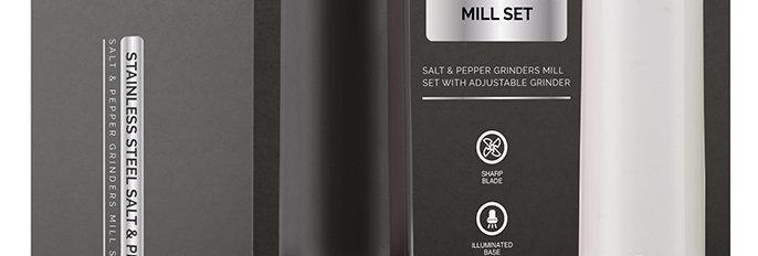 סט מטחנות מלח פלפל חשמליות שחור/לבן מבית FOOD APPEAL