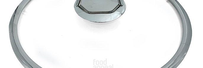 מכסה זכוכית אוניברסלי עם פתח שחרור אדים