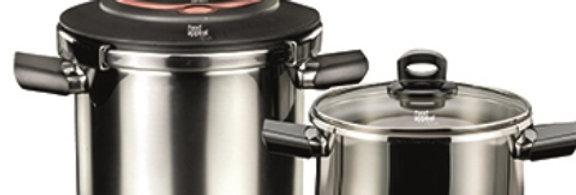 סט 4 חלקים - סירי לחץ 7 ליטר + 4 ליטר NOVA