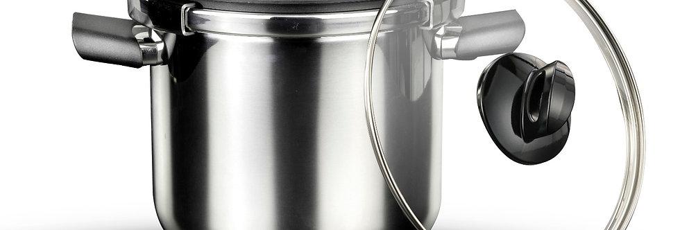 - סיר לחץ 7 ליטר + מכסה זכוכית NOVA